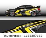 car decal graphic vector  truck ... | Shutterstock .eps vector #1136357192