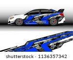 car decal graphic vector  truck ...   Shutterstock .eps vector #1136357342