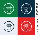 four burner icon vector | Shutterstock .eps vector #1136357732