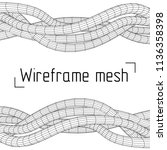 low poly vein or wire wireframe ...   Shutterstock . vector #1136358398