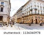 milan italy  june 27 2018  main ... | Shutterstock . vector #1136360978
