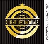 client testimonials gold badge... | Shutterstock .eps vector #1136362466