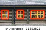 windows of a shack  in ukranian ... | Shutterstock . vector #11363821