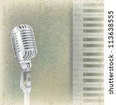 abstract grunge music... | Shutterstock .eps vector #113638555