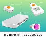 equipment connection diagram | Shutterstock .eps vector #1136387198