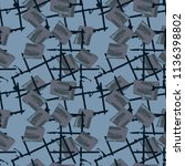 military camouflage seamless... | Shutterstock .eps vector #1136398802
