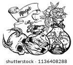 vector illustration. bottles of ...   Shutterstock .eps vector #1136408288