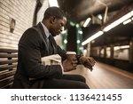 businessman in full suit in new ...   Shutterstock . vector #1136421455