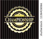 championship gold shiny badge | Shutterstock .eps vector #1136426066