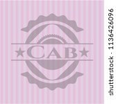 cab badge with pink background | Shutterstock .eps vector #1136426096
