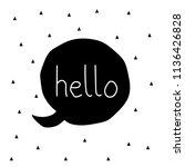 hello label  drown  sketch ...   Shutterstock .eps vector #1136426828