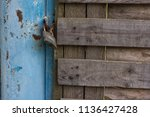 background photo of old rusty... | Shutterstock . vector #1136427428