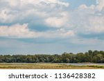 the landscape with horizon ...   Shutterstock . vector #1136428382