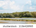 the landscape with horizon ...   Shutterstock . vector #1136428985