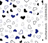 dark blue vector seamless... | Shutterstock .eps vector #1136446262