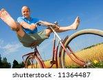 man bicycling | Shutterstock . vector #11364487