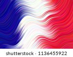 french flag gradient distorted... | Shutterstock .eps vector #1136455922