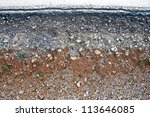 section of layer asphalt road... | Shutterstock . vector #113646085