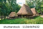 picturesque summer view of...   Shutterstock . vector #1136469632