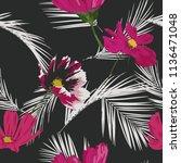 seamless floral pattern....   Shutterstock .eps vector #1136471048