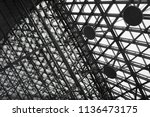 building framework with round...   Shutterstock . vector #1136473175