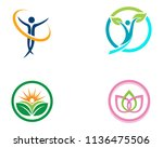 health family care therapy logo ... | Shutterstock .eps vector #1136475506