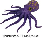octopus low poly art | Shutterstock .eps vector #1136476355