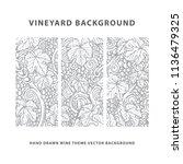vineyard background. grape ... | Shutterstock .eps vector #1136479325