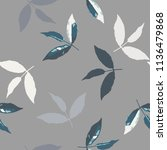 seamless pattern with leaves | Shutterstock .eps vector #1136479868