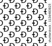 dash coin icon in pattern style ... | Shutterstock .eps vector #1136483825