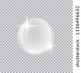 transparent glass sphere with... | Shutterstock .eps vector #1136496632