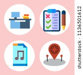 simple 4 icon set of note... | Shutterstock .eps vector #1136501612