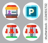 simple 4 icon set of park... | Shutterstock .eps vector #1136501732
