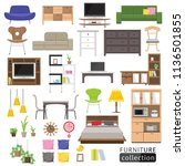 furniture icon collection. | Shutterstock .eps vector #1136501855