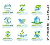 eco design elements  isolated...   Shutterstock .eps vector #113650186