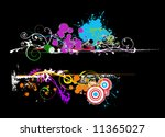 colorful vector banner with... | Shutterstock .eps vector #11365027