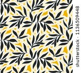 vector seamless pattern with... | Shutterstock .eps vector #1136509448