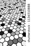 black honeycomb with a gradient ... | Shutterstock . vector #1136510888
