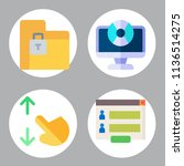 simple 4 icon set of business... | Shutterstock .eps vector #1136514275