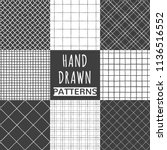 collection of hand drawn square ... | Shutterstock .eps vector #1136516552