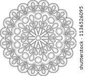 figure mandala for coloring... | Shutterstock .eps vector #1136526095