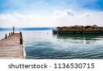 amazing ancient village on lake ... | Shutterstock . vector #1136530715