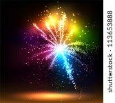 salute  vector isolated on... | Shutterstock .eps vector #113653888