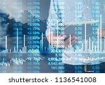 businessman plan graph growth... | Shutterstock . vector #1136541008