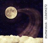 vintage moon sky background | Shutterstock . vector #113654272