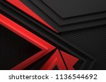 black dark and red abstract... | Shutterstock . vector #1136544692