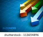 abstract 3d statistics... | Shutterstock .eps vector #113654896