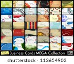 mega collection of 42 abstract... | Shutterstock .eps vector #113654902