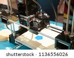 3d printer creating a new...   Shutterstock . vector #1136556026