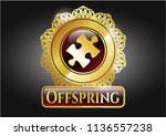 gold badge or emblem with...   Shutterstock .eps vector #1136557238